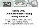 spring 2012 computer based testing training materials