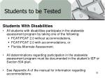 students to be tested4
