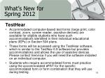 what s new for spring 20124