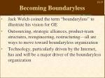 becoming boundaryless