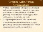 creating agile virtual organizations