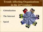 trends affecting organizations in the 21 st century
