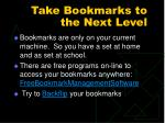 take bookmarks to the next level