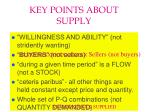 key points about supply