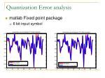 quantization error analysis