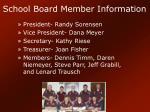 school board member information