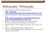 bibliography webography