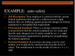 example auto safety