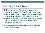 four key ethical issues