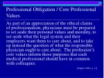 professional obligation core professional values