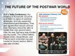 the future of the postwar world