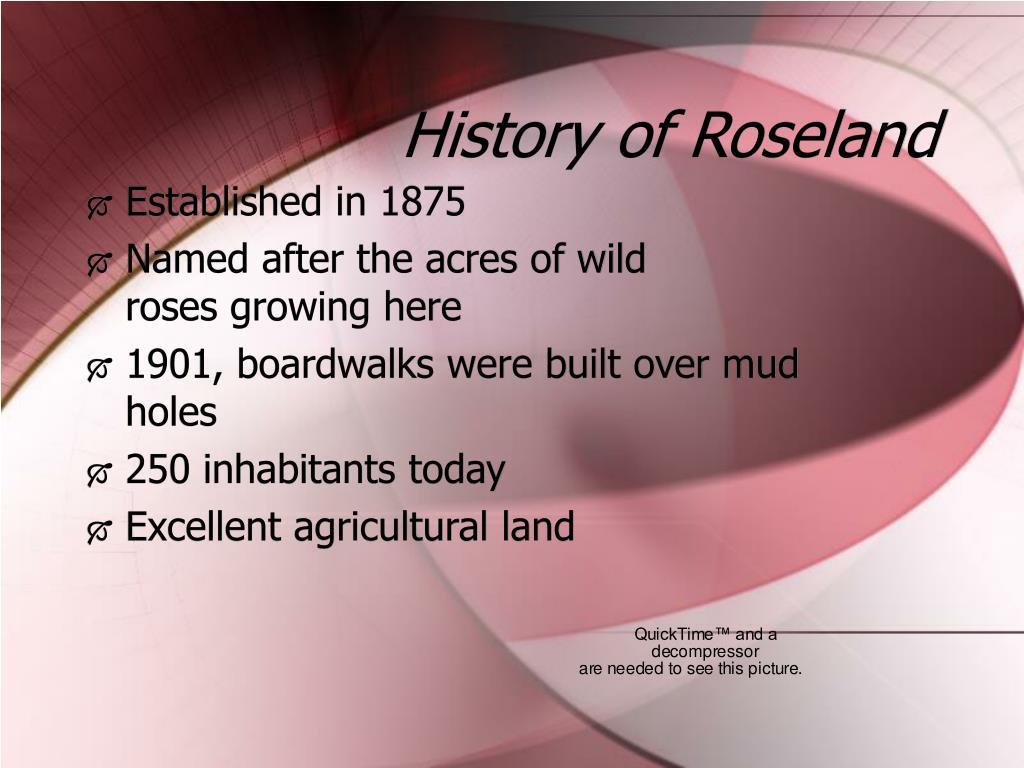 History of Roseland
