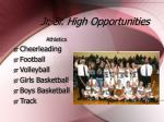 jr sr high opportunities