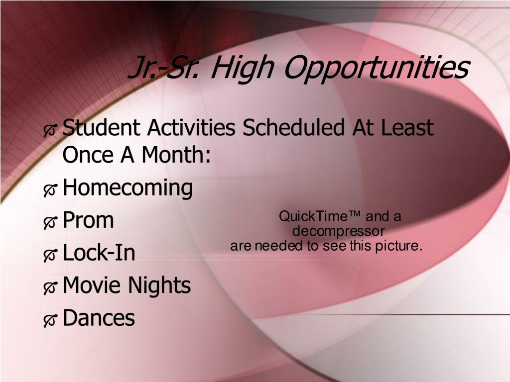 Jr.-Sr. High Opportunities