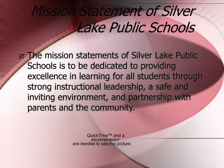 Mission statement of silver lake public schools