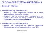 cuenta administrativa asemuch 20102