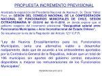 propuesta incremento previsional