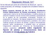 regulaci n articulo 121