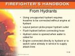 from hydrants