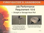 job performance requirement 10 6