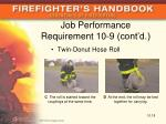 job performance requirement 10 9 cont d