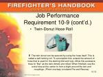 job performance requirement 10 9 cont d1