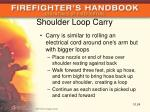 shoulder loop carry