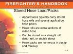 stored hose load packs