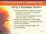 using a standpipe system
