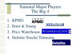 national major players the big 4