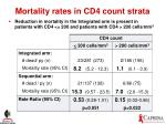 mortality rates in cd4 count strata