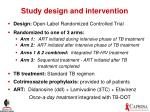 study design and intervention
