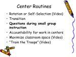 center routines21
