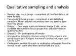 qualitative sampling and analysis