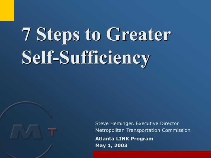 7 steps to greater self sufficiency n.