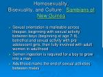 homosexuality bisexuality and culture sambians of new guinea