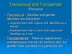 transsexual and transgender persons