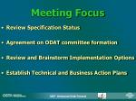 meeting focus
