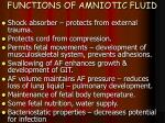 functions of amniotic fluid