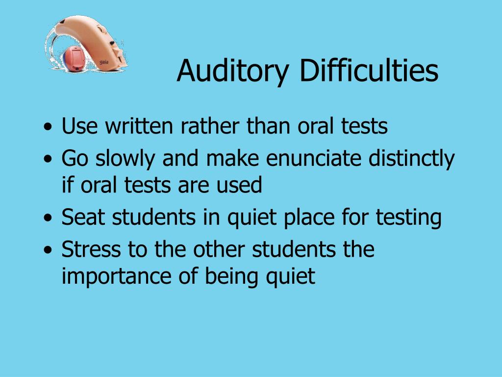Auditory Difficulties