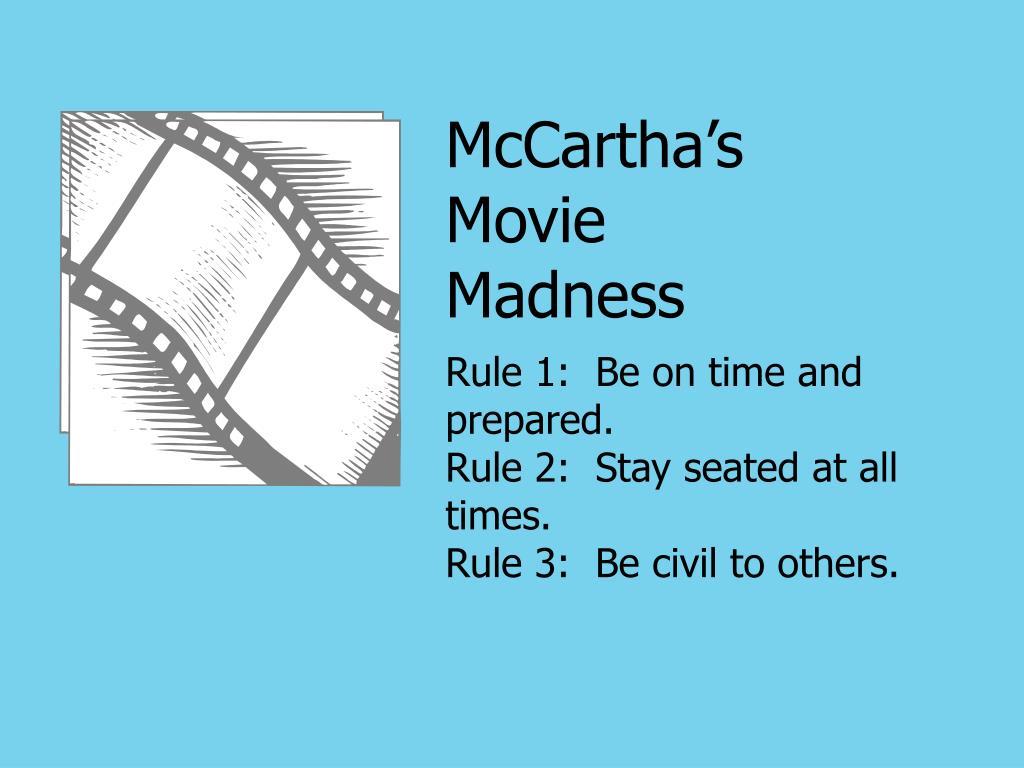 McCartha's Movie Madness