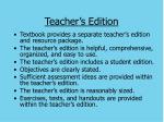 teacher s edition