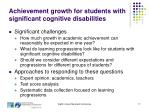 achievement growth for students with significant cognitive disabilities