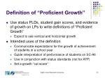 definition of proficient growth