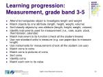 learning progression measurement grade band 3 5