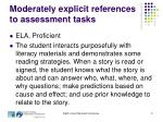 moderately explicit references to assessment tasks