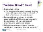 proficient growth cont