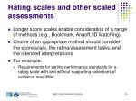 rating scales and other scaled assessments