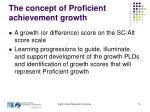 the concept of proficient achievement growth