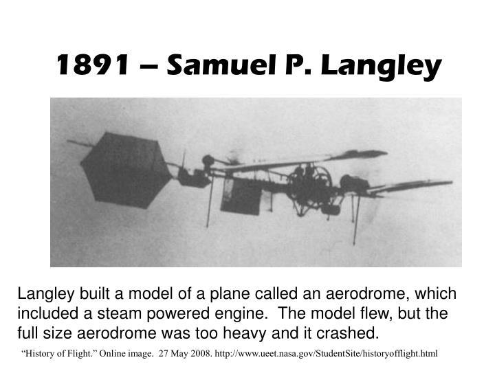 1891 samuel p langley